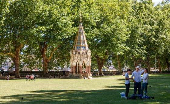 The Buxton Memorial in summer