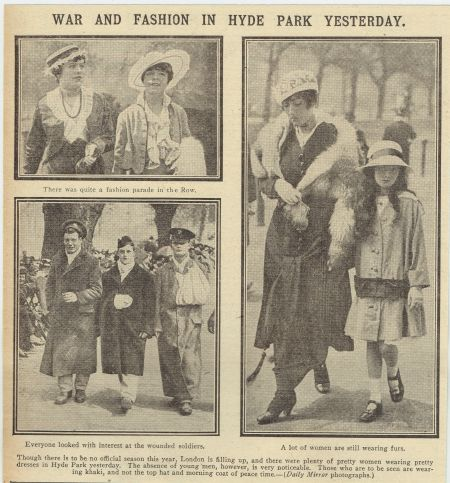 Dedicated follower of fashion: Hyde Park in the First World War
