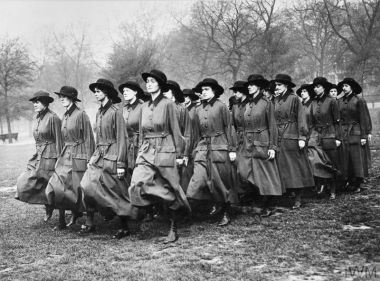 Members of the WAAC drilling in Hyde Park © IWM (Q 54089)
