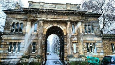 Brompton Cemetery in the snow, by Mike Behar