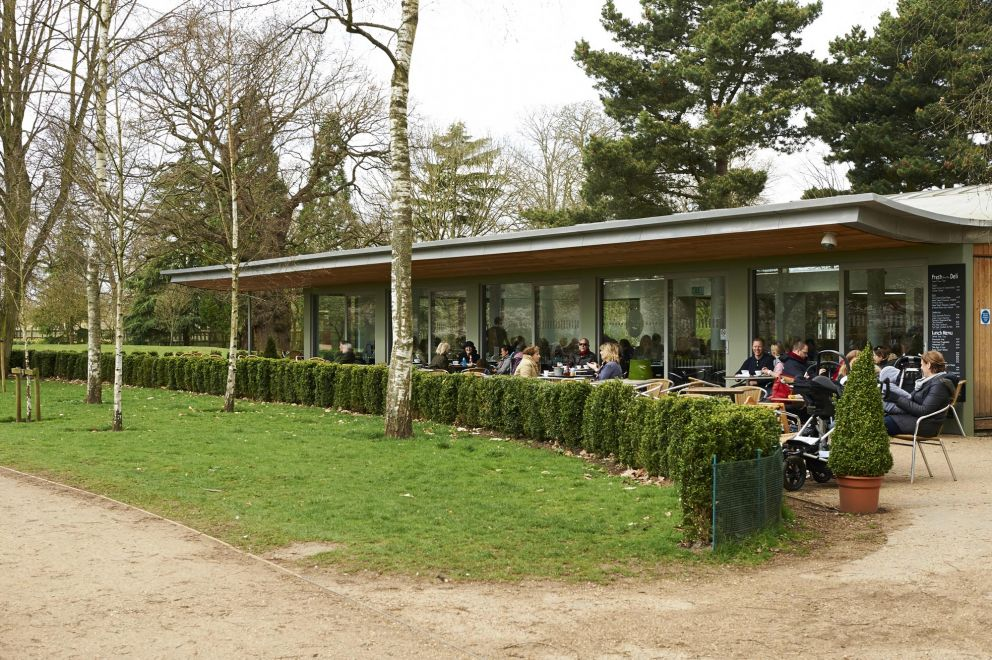 Outside diners at the Pheasantry Welcome Centre