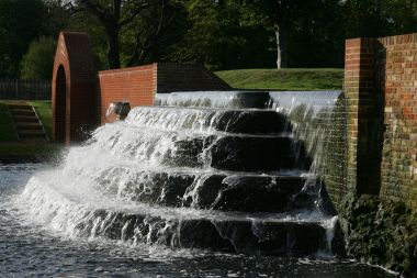 Fountain in the Upper Lodge Water Gardens