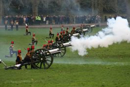 Royal Gun Salute in Hyde Park - February 2013