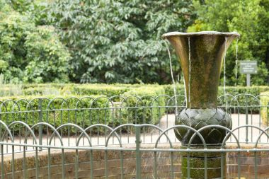 Close up of the Herb Garden fountain