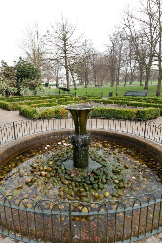 Fountain in the Herb Garden