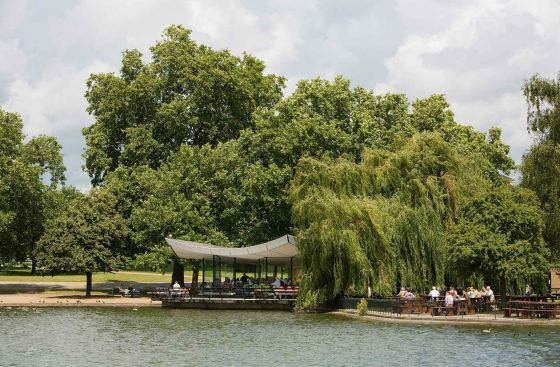 View of the Serpentine Bar and Kitchen across the water
