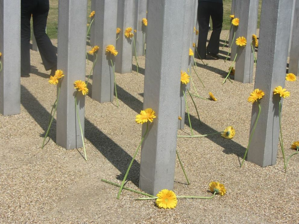 Flowers at the 7 July Memorial