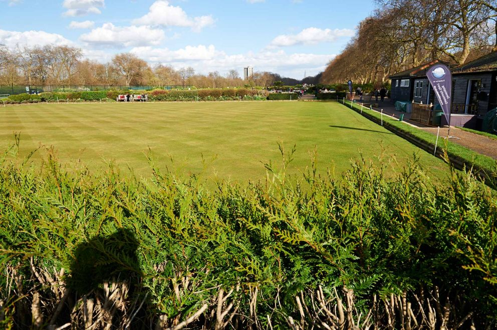 Bowling green at the Hyde Park Tennis and Sports Centre