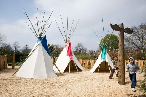 Diana Memorial Playground Teepees