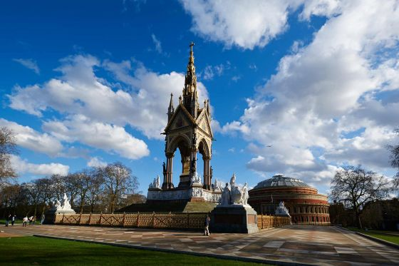 Albert Memorial and the Royal Albert Hall