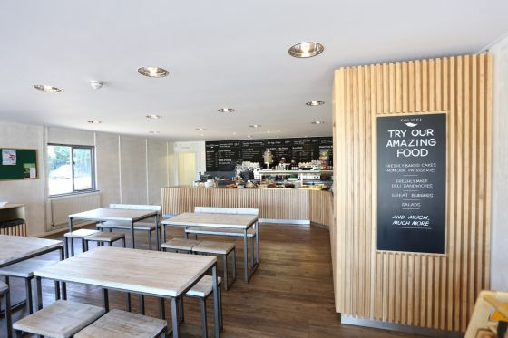 Inside the Roehampton Gate Cafe