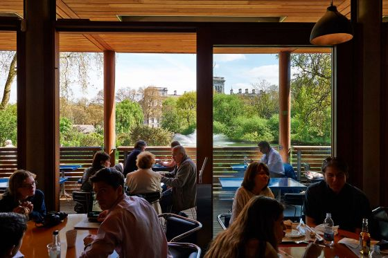 Diners inside the St. James's Park Cafe