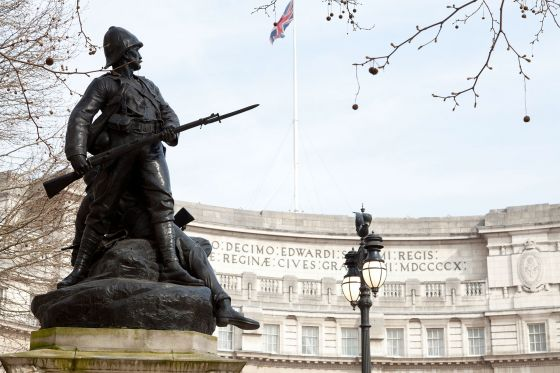Graspan Royal Marines Memorial and Admiralty Arch