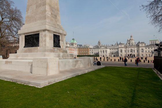 Guard's Memorial and Horse Guards Parade