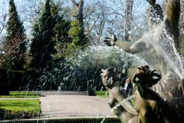 Triton Fountain in Queen Mary's Garden