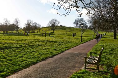 Park bench on Primrose Hill
