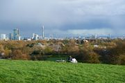 View of London from Primrose Hill summit