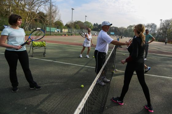 Tennis coaching at the Regent's Park Tennis Centre