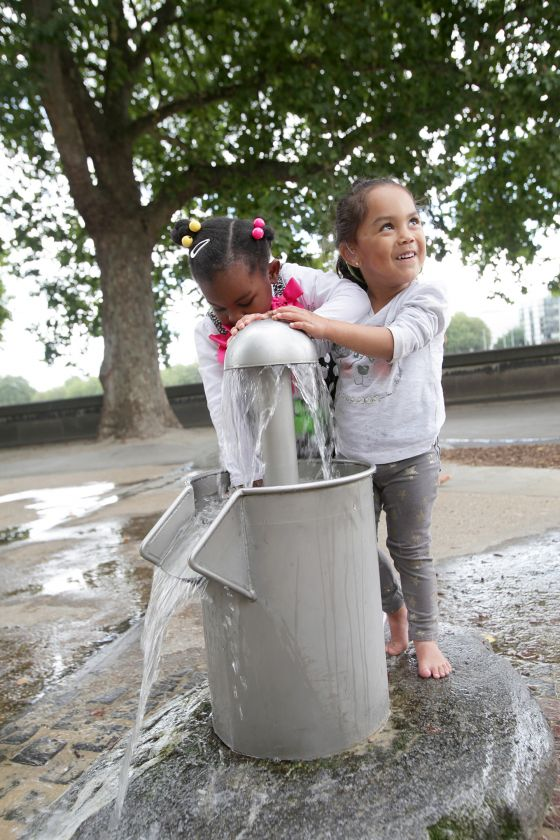 Water play installation at the Horseferry Playground