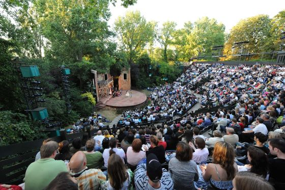 A performance in the Open Air Theatre