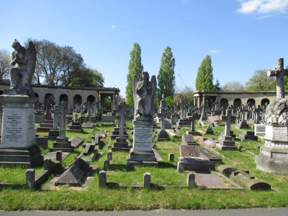 Brompton Cemetery in spring