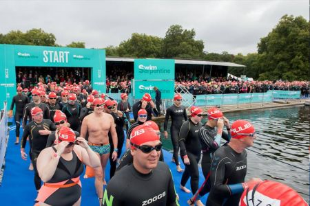 Road closures during the Swim Serpentine event